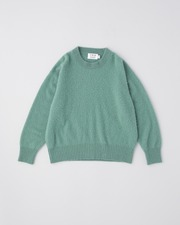 FUR CASHMERE CREW NECK PULL OVER 詳細画像 グリーン 11