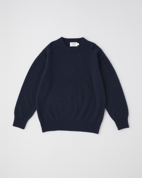 FUR CASHMERE CREW NECK PULL OVER